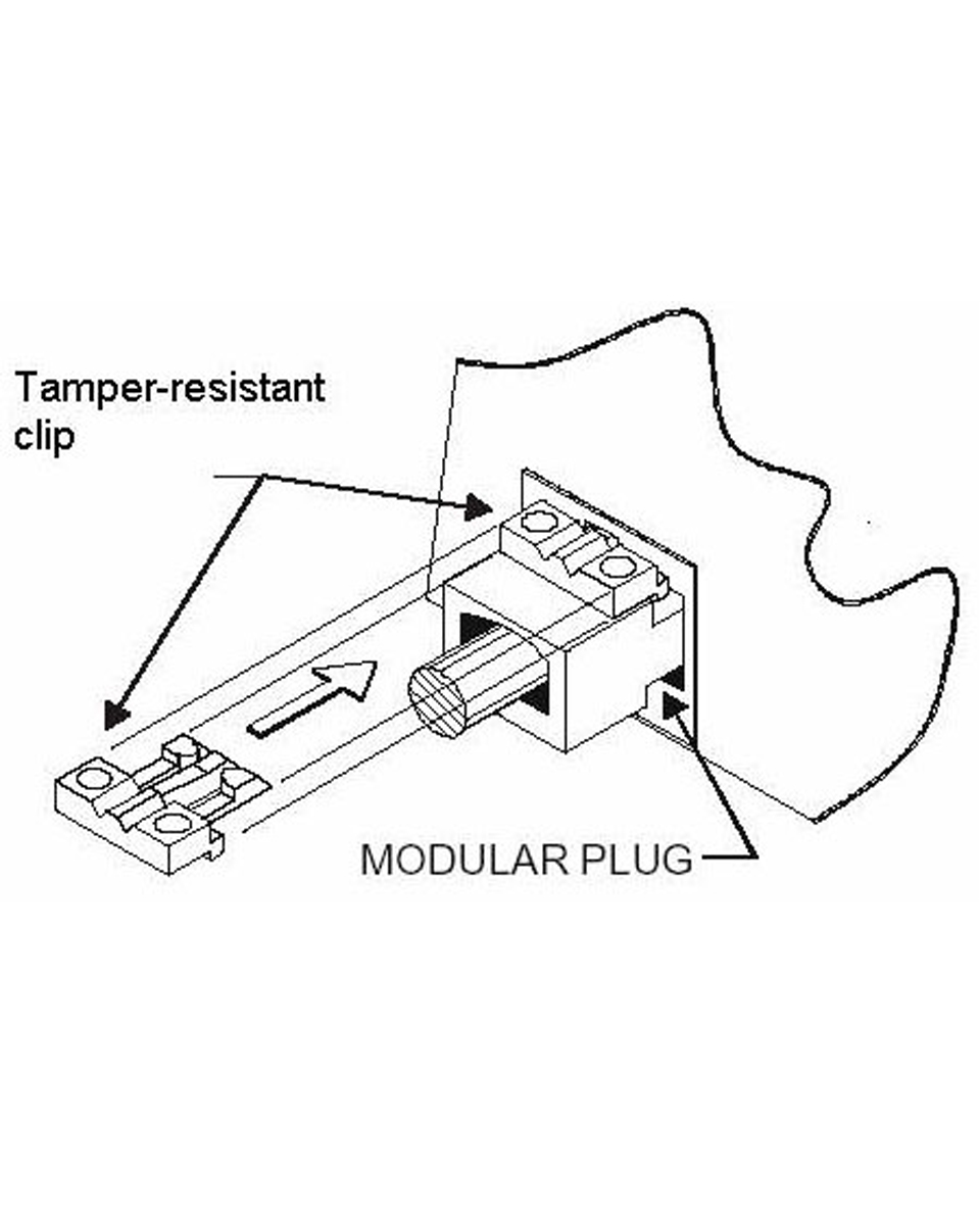 tamper-resistant network cable lock clips