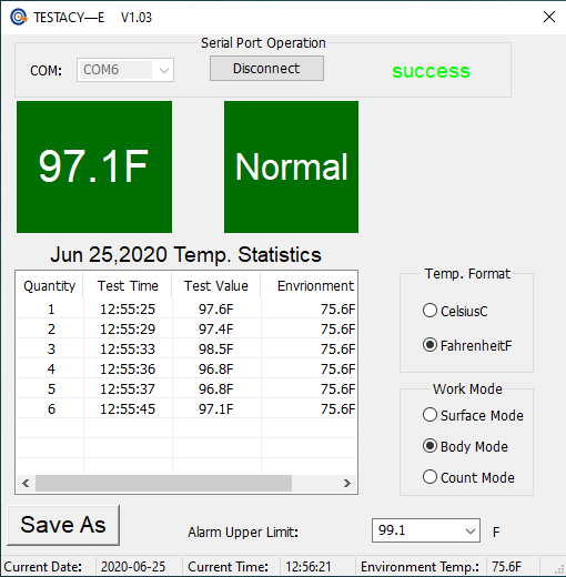 Thermometer Software